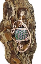 ROSE GOLD  DICHROIC FUSED GLASS PENDANT MULTI COLOR - $29.70