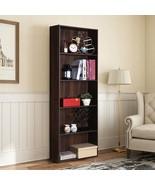 College Dorm 5-Shelf Storage Bookcase With Walnut Finish - $90.00