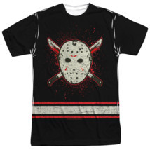 Friday the 13th Voorhees Jersey Face mask Costume Sublimation ALL Front ... - £21.47 GBP+