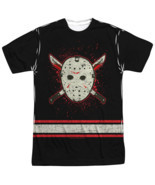 Friday the 13th Voorhees Jersey Face mask Costume Sublimation ALL Front ... - $26.99+