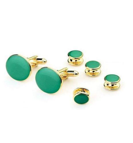 925 Sterling Silver Natural Green Onyx Gemstone Handmade Design Gold Plated Men'