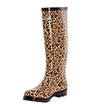 Women Animal Print Rubber Rain Boots - £23.48 GBP