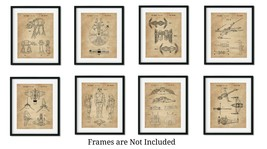 Set of 8 Vintage Star Wars Patent Gifts 8x10 Wall Art Prints for Men Boy... - $22.95