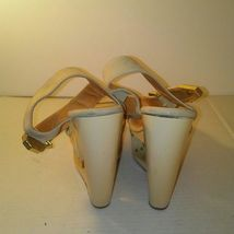 Beige 8 White Wedges Toe Open Shiekh Womens Off Spiked Size 5xgwBPO