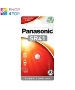 PANASONIC SR41 SILVER OXIDE BATTERY 384/39 POWER YOUR DAY 1.55V 1BL EXP 2023 NEW - $3.56