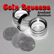 PRO Magic Coin Squeeze Deluxe EXAMINABLE Solid Aluminium Penetration WAT... - $24.99