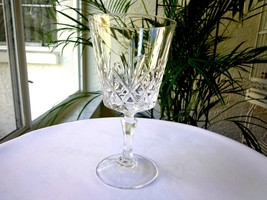 Set of 4 Cris D' Arques Crystal Chantilly Taille Beaugency Clear Wine Goblets - $38.60