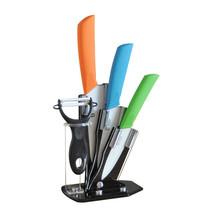 Tim Home Kit 4ps Cuchillos de Cocina de Cerámica con Pelador y Base TJC-006 - $31.98