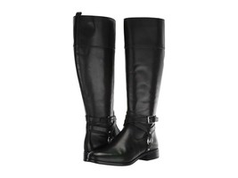 MICHAEL Michael Kors Preston Leather Tall Riding Boots Size 5.5 - £119.22 GBP