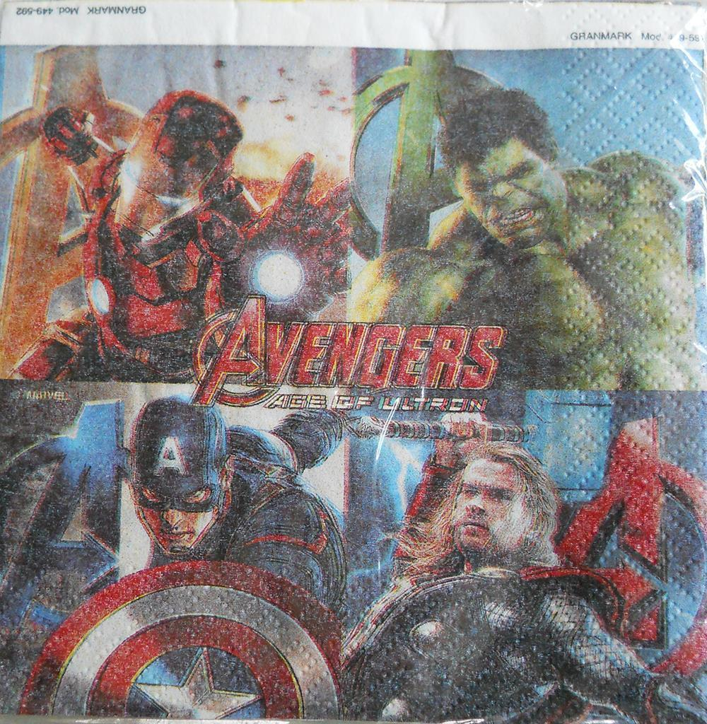 Avengers Age of Ultron Dessert Beverage Napkins 24 Napkins Count Birthday NEW