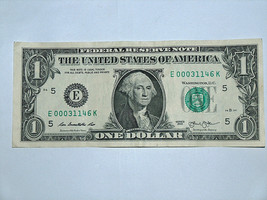 2013 $1 Bill US Bank Note Dunwoody Georgia Zip Code 000 31146 Fancy Mone... - $14.83