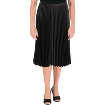 Lauren Ralph Lauren Womens  Black Satin Pleated Skirt Plus NWT $155 14W ... - $49.00+
