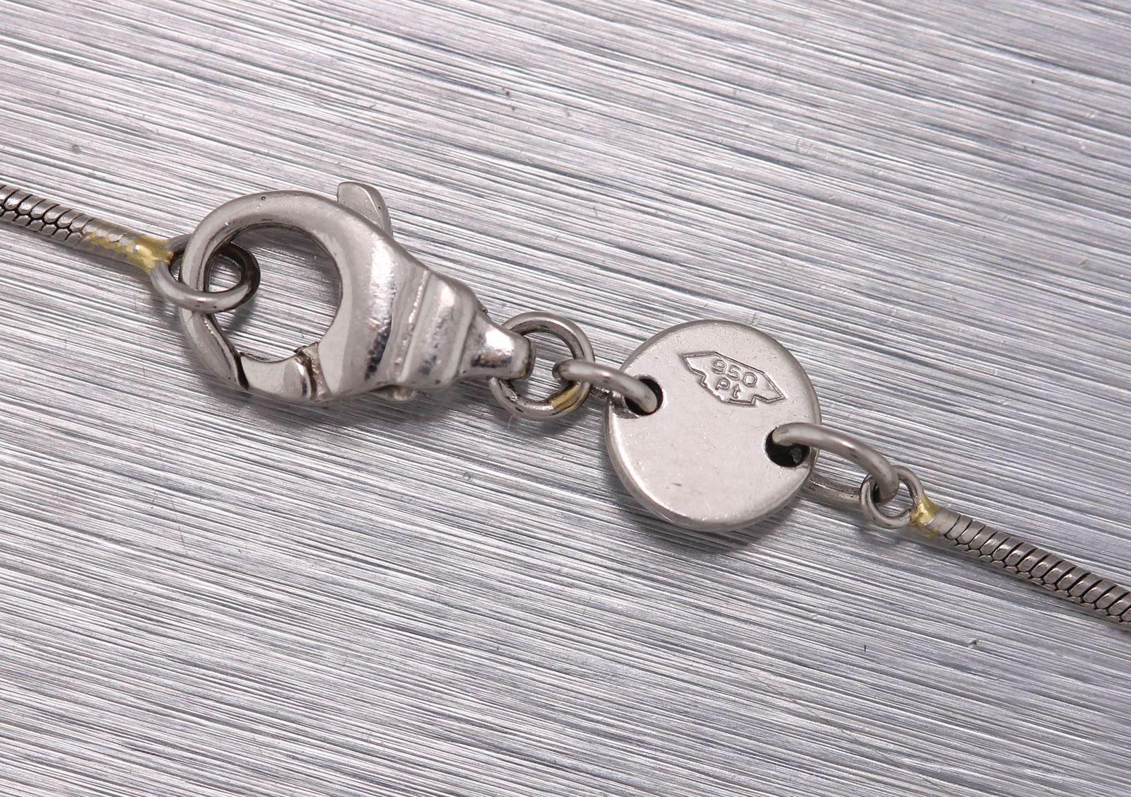 "Ladies Movado 950 Platinum 0.33ct Solitaire Diamond Pendant 16.50"" Necklace"