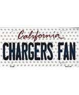 Chargers California State Background Metal License Plate Tag (Chargers Fan) - $11.95