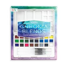 Ooly Chroma Blends Travel Watercolor Palette, 4 x 7 Inches - 24 Colors - $26.99