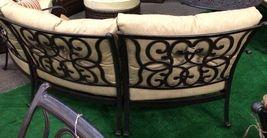 Patio Sofa Outdoor Circular bench cast Aluminum Santa Anita 3pc Seating Bronze image 3