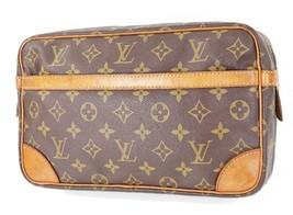 Authentic LOUIS VUITTON Compiegne 28 GM Monogram Pochette Clutch Bag #34084 - $229.00