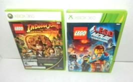 Lego Indiana Jones Kung Fu Panda Double Disc Set Lego The Lego Movie Xbo... - $13.99