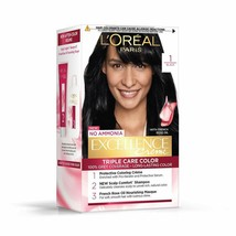 L'Oreal Paris Excellence Creme Hair Color, 1 Black, 72ml+100g - $21.49