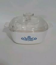 "1-1/2 Quart Corning Ware Blue Cornflower Casserole Dish /Pyrex Lid 7"" x ... - $12.59"
