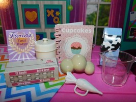 Our Generation Cupcakes Baking Accessories Lot Snacks fits American Girl Doll - $21.77