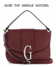 GUESS ALEK TOP HANDLE SATCHEL/CROSSBODY-WINE - $100.00