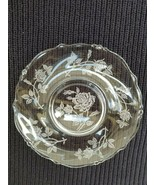 "Heisey Glass Rose Etched 7 1/4"" Salad Plate  - $6.88"