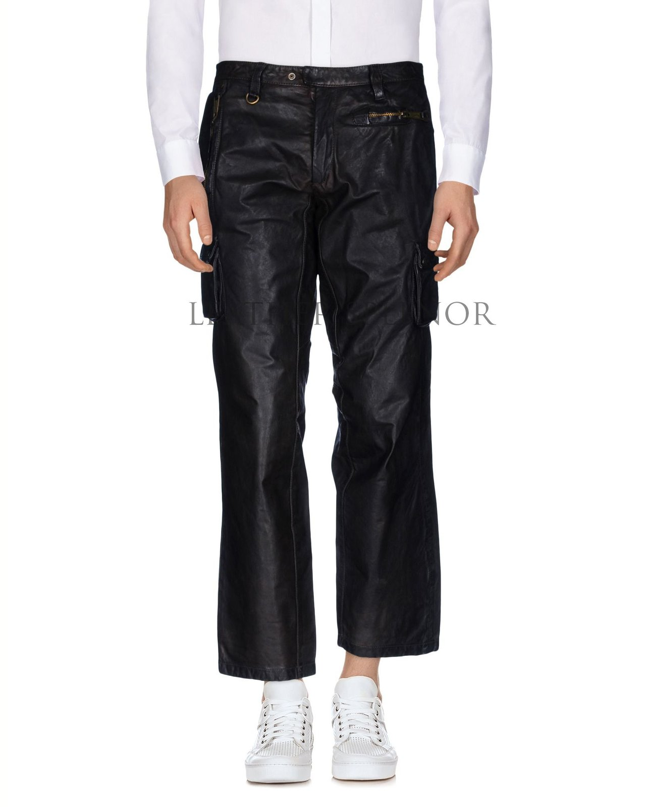 CROPPED LENGTH MEN LEATHER PANTS