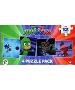 PJ Masks - 4 Puzzle Pack - 12 Piece Jigsaw Puzzle - v1 - $9.89