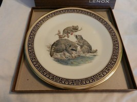 "1973 Raccoons China Plate from Lenox Woodland Wildlife by Boehm 10.75"" - $59.39"