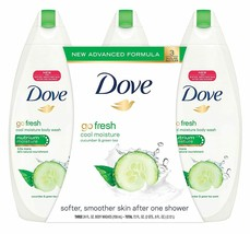 Dove go fresh Cool Moisture Body Wash, Value Pack, 24 Ounce, 3 Count - $34.48