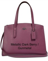 NWT COACH 25137 CHARLIE MEDIUM CARRYALL IN PEBBLE LEATHER - $189.99