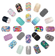 Jamberry Nail Wraps Lot 40 Samples 80-120 Accent Nails Mixed Manicure New! - $14.99