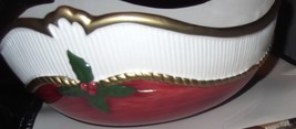 Fitz and Floyd 1989 Old World Christmas Ceramic Bowl  - $14.00