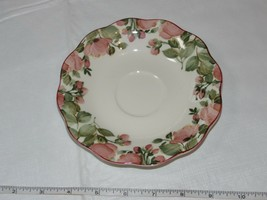 Nikko Tableware Scalloped Edges Saucer 1 saucer only Off White Pink Flowers - $15.96