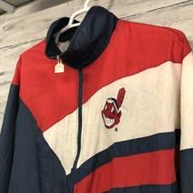Men's Vintage Cleveland Indians Baseball Logo 7 Windbreaker MLB Jacket XL - $29.65