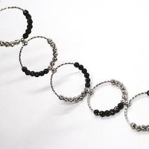 925 STERLING SILVER OFFICINA BERNARDI DIAMOND CUT BALLS BRACELET MULTI CIRCLES image 2