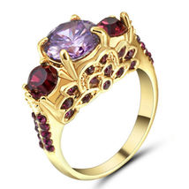 Purple Gem Engagement Ring ** Size 8.0 ** #9497 >> Combined Shipping - $5.75