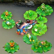 Floating Frog Lawn Sculpture Outdoor Pool Ornament Decor Toy Garden Resi... - €18,83 EUR+