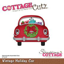 Vintage Holiday Car Cottage Cutz Die. Card Making. Scrapbooking