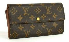 Louis Vuitton Brown Long Wallet Purse Portefeuille Sarah Monogram France... - $127.00