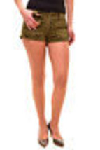 Free People Women's Button Front Shorts Army Size W26 RRP £47 BCF81 - $31.57