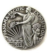 1915 Pan Pacific Half Dollar USA American Commerative Casted Coin - $11.99