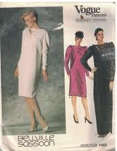 1452 Vogue Costura Patrón Misses Suelto Ajuste Recto Jersey Forrado Vest... - $14.82