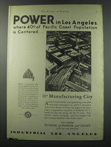 1930 Bureau of Power and Light City of Los Angeles Ad - Power in Los Ang... - $14.99