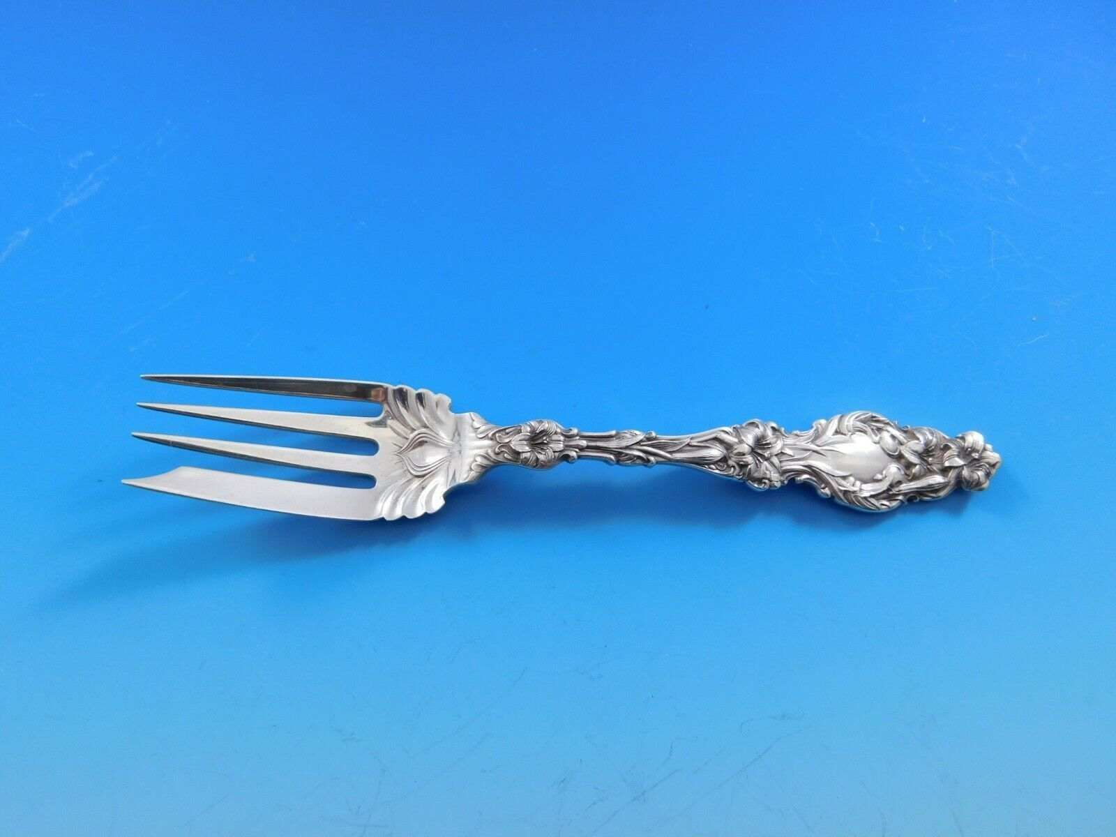 "Primary image for Lily by Whiting Sterling Silver Salad Fork 6"" Heirloom Vintage Flatware"