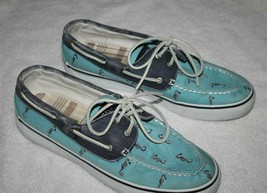 Sperry Top-Sider Boat Shoes BLUE SEAHORSE Two Eye Lace Up  Women 9 M  JB... - $19.99