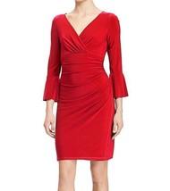 Lauren Ralph Lauren Bell-Sleeve Jersey Dress Parlor Red Petite Size 0P $135 - $57.82