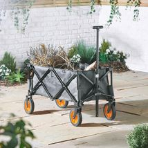 Folding Festival Trolley Cart 4 Wheel Garden Camping Picnic Heavy Duty U... - $124.63 CAD