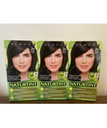 3x Naturtint Phergal Permanent Hair Color Dye 2N Brown-Black Vegan Ammon... - $35.63